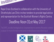Invitation to tender to provide legal advice & representation to the Scottish Women's Rights Centre